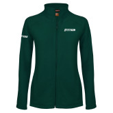 Ladies Fleece Full Zip Dark Green Jacket-Stetson