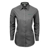 Ladies Grey Tonal Pattern Long Sleeve Shirt-Stetson