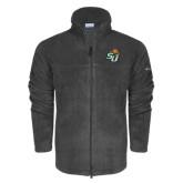 Columbia Full Zip Charcoal Fleece Jacket-SU w/ Hat