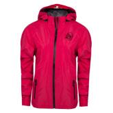 Ladies Dark Fuchsia Waterproof Jacket-SU w/ Hat