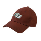 Brown Heavyweight Twill Pro Style Hat-SU