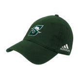 Adidas Dark Green Structured Adjustable Hat-Primary logo