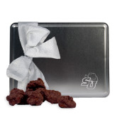 Decadent Chocolate Clusters Silver Large Tin-SU w/ Hat Engraved