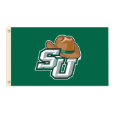 3 ft x 5 ft Flag-Stetson w/Hat