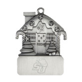 Pewter House Ornament-SU w/ Hat Engraved