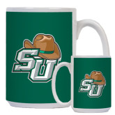 Full Color White Mug 15oz-SU w/ Hat