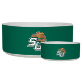 Ceramic Dog Bowl-SU w/ Hat