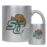 Full Color Silver Metallic Mug 11oz-SU w/ Hat