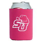 Collapsible Hot Pink Can Holder-SU w/ Hat