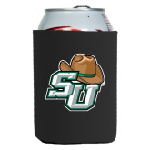 Collapsible Black Can Holder-SU w/ Hat