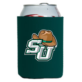 Collapsible Green Can Holder-SU w/ Hat