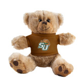 Plush Big Paw 8 1/2 inch Brown Bear w/Brown Shirt-SU w/ Hat