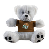 Plush Big Paw 8 1/2 inch White Bear w/Brown Shirt-SU w/ Hat