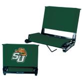 Stadium Chair Dark Green-SU w/ Hat