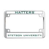 Metal Motorcycle License Plate Frame in Chrome-Hatters