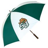 62 Inch Forest Green/White Umbrella-SU w/ Hat