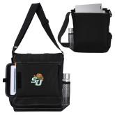 Impact Vertical Black Computer Messenger Bag-SU w/ Hat