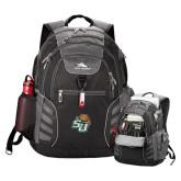 High Sierra Big Wig Black Compu Backpack-SU w/ Hat
