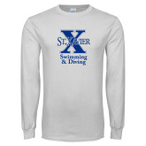 White Long Sleeve T Shirt-Swimming and Diving