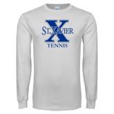 White Long Sleeve T Shirt-Tennis
