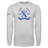 White Long Sleeve T Shirt-Latin Club