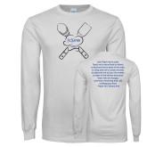 White Long Sleeve T Shirt-Culinary Club