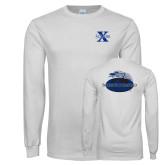 White Long Sleeve T Shirt-St Xavier
