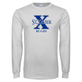 White Long Sleeve T Shirt-Rugby