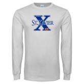 White Long Sleeve T Shirt-Football Design