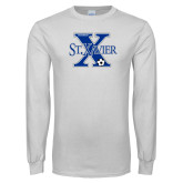White Long Sleeve T Shirt-Soccer Design