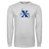 White Long Sleeve T Shirt-St Xavier Baseball