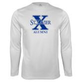 Performance White Longsleeve Shirt-Alumni