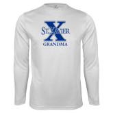 Performance White Longsleeve Shirt-Grandma