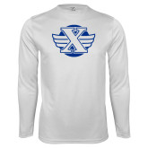 Syntrel Performance White Longsleeve Shirt-Cross Country Design