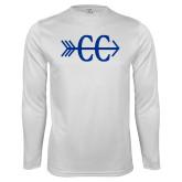Performance White Longsleeve Shirt-CC