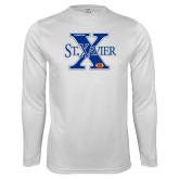 Performance White Longsleeve Shirt-Football Design