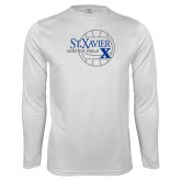Performance White Longsleeve Shirt-Water Polo Design