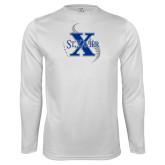 Syntrel Performance White Longsleeve Shirt-St Xavier Baseball