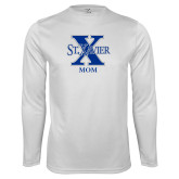 Performance White Longsleeve Shirt-Mom