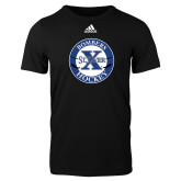 Adidas Black Logo T Shirt-Hockey Design