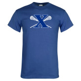 Royal T Shirt-Lacrosse Design