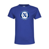 Youth Royal T Shirt-Hockey Design