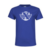 Youth Royal T Shirt-Cross Country Design