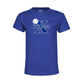 Youth Royal T Shirt-Volleyball Design