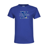 Youth Royal T Shirt-Soccer Design
