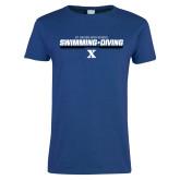 Ladies Royal T-Shirt-Swimming and Diving Stencil