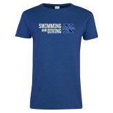 Ladies Royal T Shirt-Swimming and Diving Stacked