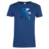 Ladies Royal T Shirt-Football Foil