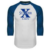 White/Royal Raglan Baseball T Shirt-X Men