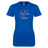 Next Level Ladies SoftStyle Junior Fitted Royal Tee-Rugby